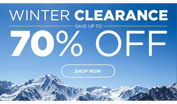Up To 70%  OFF Winter Clearance