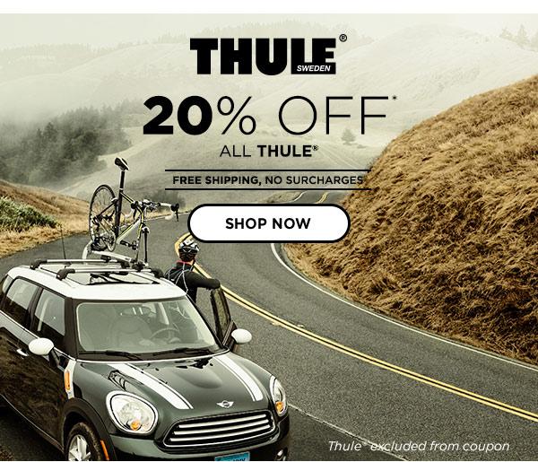20% OFF ALL Thule Car Racks